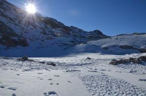 Altopiano delle Pale di S. Martino ( Dolomiti ) Tempo : 1/500 sec. Diaframma : F/11 iSO : 100 Distanza focale : 18 mm.