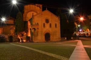 Le 7 chiese e p.zza S. Stefano by night. Tempo: 30 sec.( usato il cavalletto) Diaframma: F/22 Iso: 100 Distanza focale : 22 mm.